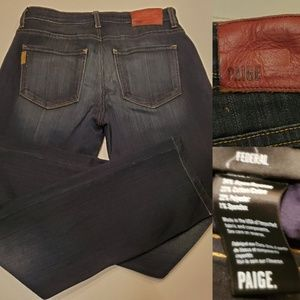 29 | PAIGE | LK NEW FEDERAL DARK WASH RIGBY JEANS